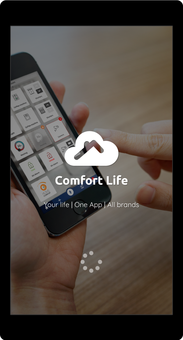 visuel de l'application Comfort Life